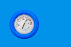 Pool-Thermometer lizenzfreie stockfotografie