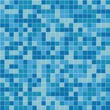 Pool tile seamless pattern. Vector blue mosaic tiles background. Royalty Free Stock Photography