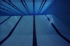 Pool tiles under water Stock Photography
