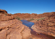 Pool on top of Kings Canyon Stock Photography