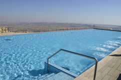 Pool in tourist hotel, Negev desert. Stock Photography