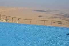 Pool in tourist hotel, Negev desert. Stock Photos