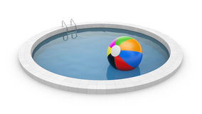 Pool with toy ball Stock Images