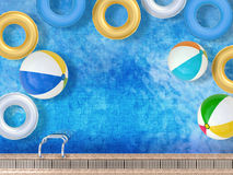 Pool with toys Stock Photography