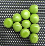Pool triangle of green peas. Royalty Free Stock Images