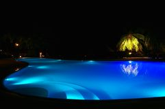 Pool in a tropic hotel. Nice blue pool in a tropic hotel Stock Image
