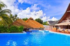 Pool at tropical island Royalty Free Stock Photos