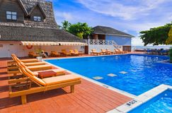 Pool at tropical island Stock Photography
