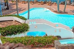 Pool on tropical island Stock Photo