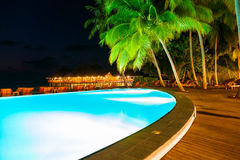 Pool on tropical Maldives island Stock Image