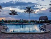Pool at tropical resort. Empty pool at tropical resort at the morning Stock Image