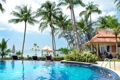 Pool in tropics Stock Images