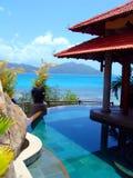 Pool, tropisch strand, aard Stock Foto