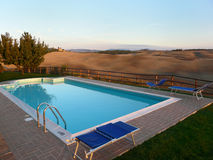 Pool in Tuscany Stock Images