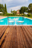 Pool in Tuscany Stock Photos