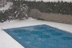Pool under snow Royalty Free Stock Photos