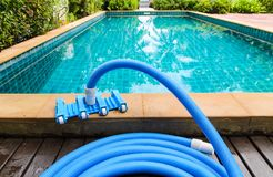 Pool vacuum cleaning flexible hose Stock Images