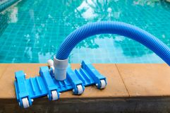 Pool vacuum cleaning flexible hose Stock Photos