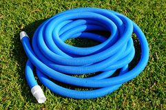 Pool vacuum cleaning flexible hose Royalty Free Stock Photo