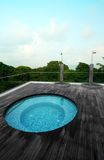 Pool van de het dak de hoogste Jacuzzi van het flatgebouw met koopflats Stock Foto's