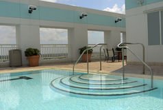 Pool View. Pool at the top level stock image
