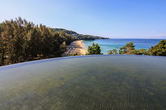 Pool on the view top. See andamansea phuket thailand stock photo