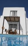 Pool and villa Stock Photo