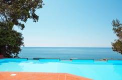 Pool of a villa Stock Photos