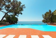 Pool of a villa Royalty Free Stock Photos