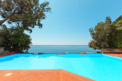 Pool of a villa Royalty Free Stock Images