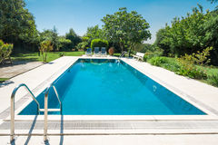 Pool. Of a villa during summer Royalty Free Stock Images