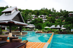 Pool and Villas Royalty Free Stock Photos