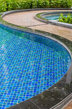 Pool and walkway Royalty Free Stock Photo