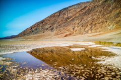 A pool of water in Death Valley National Park royalty free stock photo
