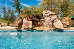 Pool Water Fall Stock Images