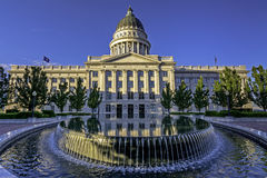 Pool of water in front of the Capital in Utah Royalty Free Stock Image