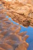 Pool of water - Hunter Canyon Hiking Trail Moab Utah Stock Photos