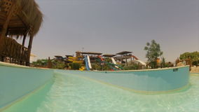 Pool at a water park , Egypt stock video footage