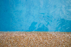 Pool water. Pattern in swimming pool background Royalty Free Stock Photography