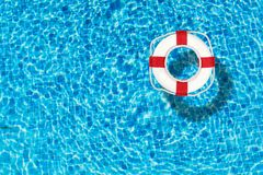 Pool. Water ring float yellow cool fun Royalty Free Stock Photos