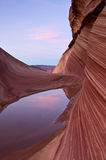 Pool of Water and Sandstone Entrance Stock Photo