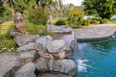 Pool waterfall Royalty Free Stock Photography