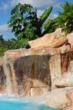 The Pool Waterfall. The waterfall of a pool inside Bacab ecological park in Belize Stock Photos