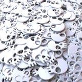 Pool of white skulls. 3d rendering, clean, cartoon style Royalty Free Stock Photos