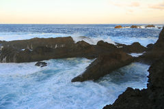Pool of wind. Charco del viento, La Guancha, Tenerife, Canary island, Spain Stock Images