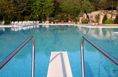 Pool With Diving Board Stock Photo