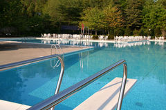 Pool With Diving Board Stock Image