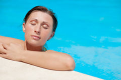 Pool woman Royalty Free Stock Photography