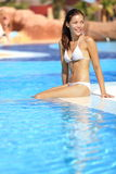 Pool woman Stock Photos