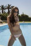 Pool woman Stock Image